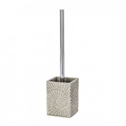 Beige fossil toilet brush