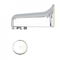 Magnetic chrome soap dish