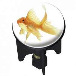Pluggy fish sink stopper
