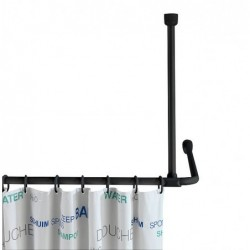 Black shower bar holder 57 cm