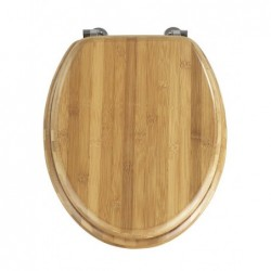 Bamboo toilet seat chrome...