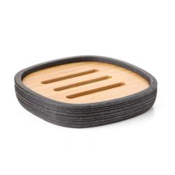 Bamboo soap dish
