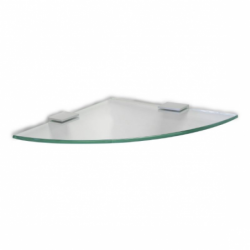 Corner glass shelf - Ice