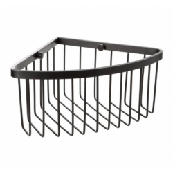 Black aluminum corner shelf
