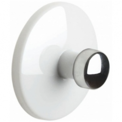 Bowl adhesive hook white