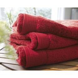 Plain cherry bath towel...