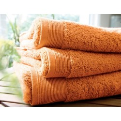 Plain paprika bath towel...