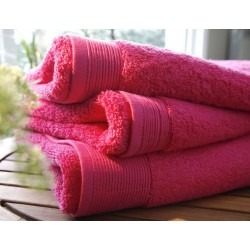 Plain fuchsia bath towel...