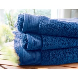 Plain royal blue bath towel...