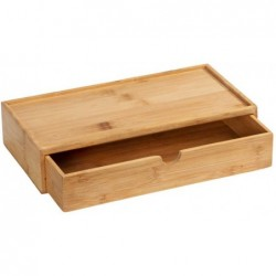 Box with drawer terra, bamboo