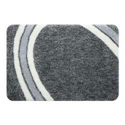 Curve Bath Mat 55x65 Gray