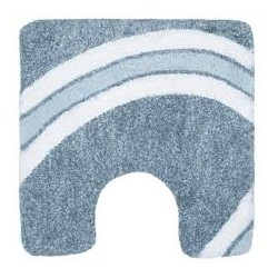 Tapis wc Curve 55x55 Bleu