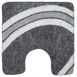 WC mat Curve 55x55 Gray