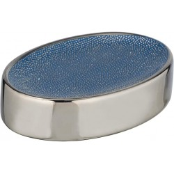 Porte savon Nuria Argent/bleu