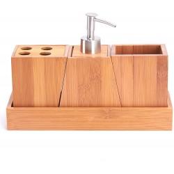 Bamboo bath set