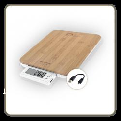 Salle d'ô - Balance culinaire sans pile - Bambou USB