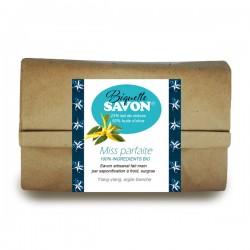 Salle d'ô - Biquette savon - Savon au lait de chèvre Bio - Ylang Argile blanche - 100g