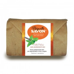 Salle d'ô - Biquette savon - Savon au lait de chèvre Bio - Patchouli Argile rouge - 100g